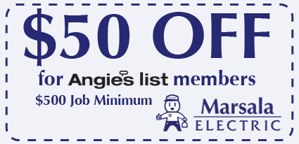 $50 Off angie's list members with $500 minimum job